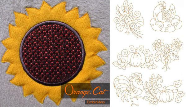 Get The Football Split Applique Design Amazing Embroidery Designs