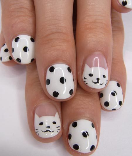 Cat nails - Cat Nails - Animal Themed Nail Art Designs