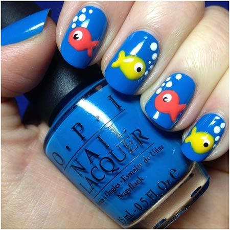 Rubber Duck Nails Animal Themed Nail Art Designs