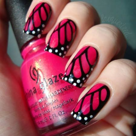 Butterfly Nail Art Animal Themed Nail Art Designs