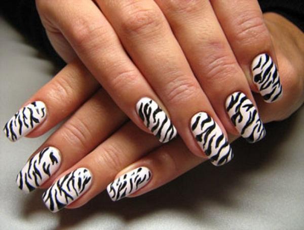 Zebra Nail Designs - Zebra Nail Designs - Cute Nail Art Designs