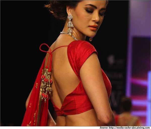 saree blouse design Backless
