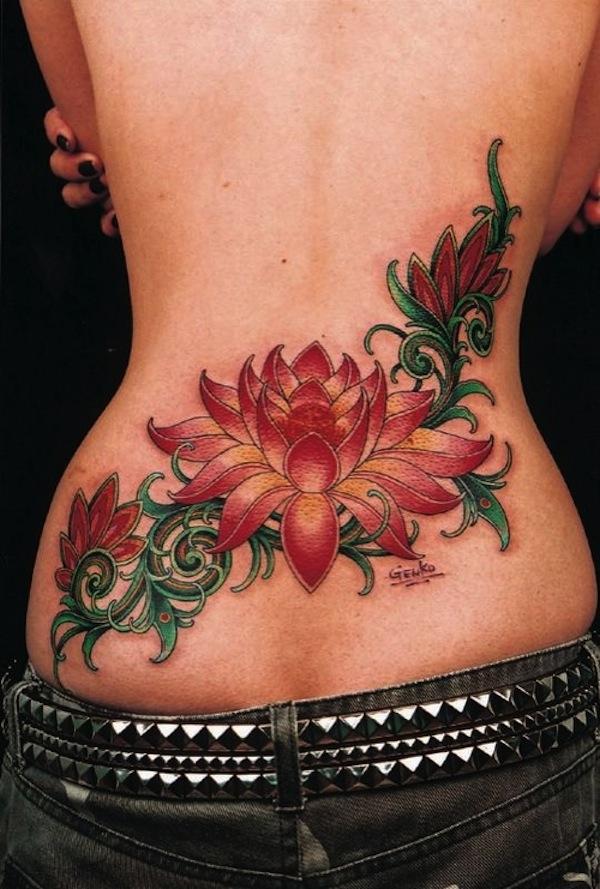 Red lotus flower tattoo on lower back new lotus flower tattoo designs red lotus flower tattoo on lower back mightylinksfo