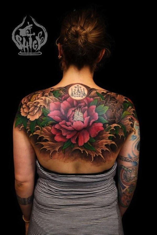 New lotus flower tattoo designs mobsea back piece lotus flower tattoo with sanskrit mightylinksfo